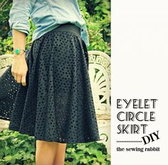 A tutorial showing you how to sew leggings into any circle skirt.