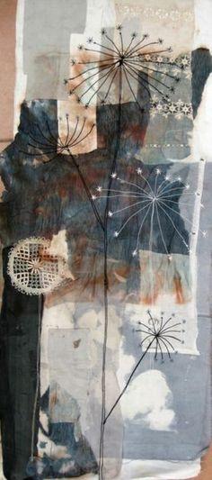 mandy pattulo – textile designer – fabric collage