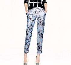 printed trousers J Crew