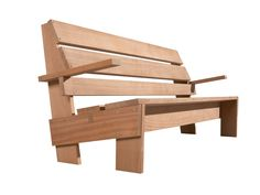 Rietveld never named his designs and most were named at a later date after the client for whom they were made. This garden bench from 1936 was designed for the Hillebrandt family, for whom he had previously designed a house in The Hague. The original version of the bench was painted white, with the lower part of the legs painted black in order to conceal any traces of dirt. The bench, which has good proportions and a good seating angle, is also very comfortable without cushions.