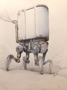 ArtStation - Some mech and spaceship concept sketches, Yigit Koroglu