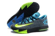 22d060213928 Buy Vivid Blue Dark Grey-Volt-Black KD 6 Away II Nike Training Shoes from  Reliable Vivid Blue Dark Grey-Volt-Black KD 6 Away II Nike Training Shoes  ...