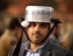 Helmets during the Egyptian revolution
