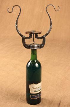Wrought iron Double Arm Wine Bottle Opener