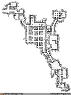 "Why not finish off the month with a second map for the Tekumel undercity – a small section of old temple and crypt structures that extend into a previous ""gap"" in the existing map…"
