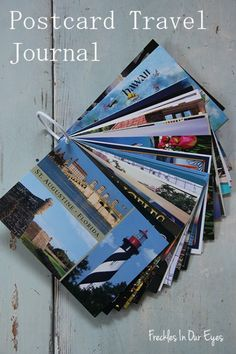Postcard Travel Journal | 10 Travel Journals Worth Checking Out - I think I'll do this!