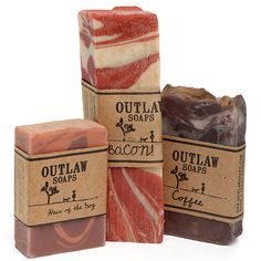 OMFG It is Bacon, Whiskey and Coffee Soap, well sod the coffee soap rit off, just giv uz the the bacon an' whiskey