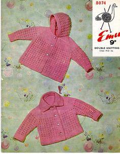 Vintage Emu Knitting Pattern PDF Baby Knitting by DukehamDesigns