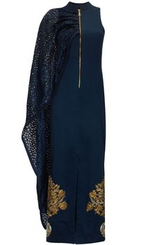 Midnight blue pot embroidered gown available only at Pernia's Pop-Up Shop.