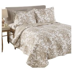 Laura Ashley Home Bedford Reversible Cotton Quilt
