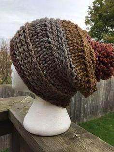 Knit look crochet hat free pattern!