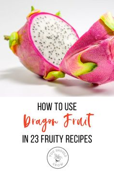 Recipes Fruit This exotic fruit is quite healthy being low in calories and full of vitamin c and fiber. You might even say it's a superfruit. Superfood Recipes, Fruit Recipes, Smoothie Recipes, Sweet Recipes, Real Food Recipes, Snack Recipes, Healthy Recipes, Dragon Fruit Smoothie, Healthy Fruit Smoothies