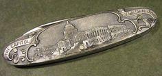 Vintage JA Henckels Germany Embossed Washington DC Souvenir Old Pocket Pen Knife #JAHenckels