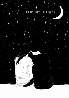 You are the sweetest, most funny, attractive in every way, indescribably beautiful beautiful human. Couple Drawings, Art Drawings, Image Swag, Love Illustration, Romantic Love Quotes, Couple Art, Cute Love, Love Art, Cute Wallpapers