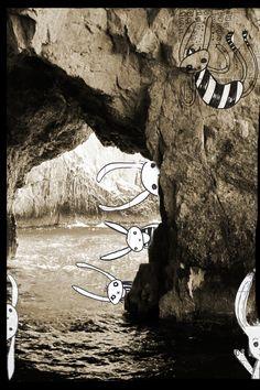 nice mix of photo and illustration White Rabbits, Bunny Rabbits, Photo Illustration, Digital Illustration, Illustrations, Serge Bloch, Installation Art, Artsy Fartsy, Doodle