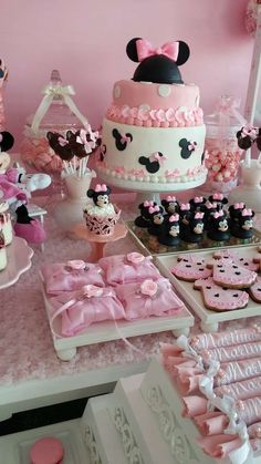 Minnie mouse rosa ideas y tuitoriales para fiestas party ide Minie Mouse Party, Minnie Mouse Rosa, Minnie Mouse Theme, Minnie Mouse Baby Shower, Pink Minnie, Mickey Party, Birthday Party Treats, Minnie Birthday, Baby Birthday