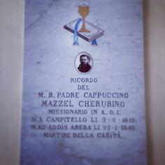 Frate cappuccino, morto ad Addis Abeba nel 1940. @Linda di Campitello