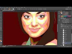 Simple Vector Portrait Tutorial - Adobe Photoshop CS6 - YouTube