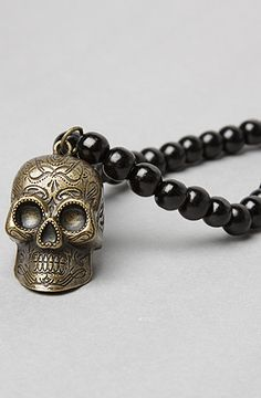 Bead & Skull Necklace