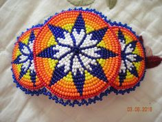 Native American Sead Bead Barrette Beautiful and colorful