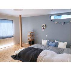 Bedroom/ナチュラル/アクセントクロス/ベッドルーム/ベッドカバー/北欧...などのインテリア実例 - 2018-01-25 03:02:20