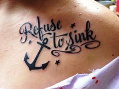 Anchor Tattoo Meanings for Girls | anchor infinity tattoo i refuse to sink - Popular Tattoo Design