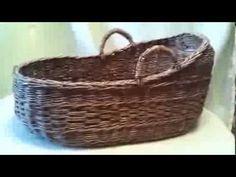 Плетёная люлька из газет - YouTube