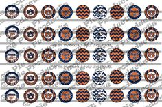 ✰≥ Instant Download Auburn half inch .#5 inch circle digital Bottle cap images Inspired http://etsy.me/2bwb5sy
