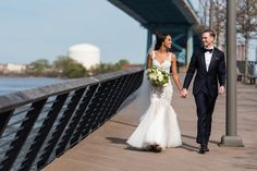 Race Street Pier wedding photos Bride and Groom