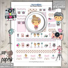 Photography Planner Stickers by www.YupiYeiPapers.etsy.com