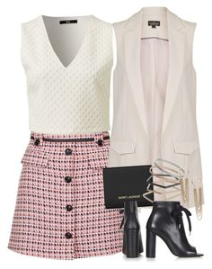 """""""Untitled #2130"""" by erinforde ❤ liked on Polyvore featuring Topshop and Yves Saint Laurent"""