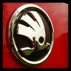Skoda new logo - badge - emblem - 2012 - Skoda - Škoda Auto Audi, Car Hood Ornaments, Vw Group, Radiator Cap, Luxury Rv, Car Badges, Volkswagen Logo, Car Brands, New Tricks
