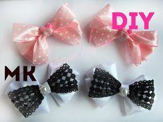 Бантики из атласных лент за 5 мин  Bows of satin ribbons for 5 minutes  DIY - YouTube