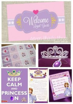 Free Sofia The First Birthday Party Printables