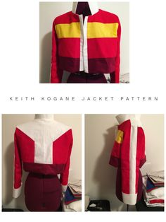 Keith Kogane cosplay pattern instant download! For all you fans of Voltron and Keith cosplayers out there!