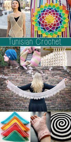 Crochet Stitches Tunisian Tunisian crochet tutorials - MUST SEE! Crochet Tutorials, Crochet Crafts, Crochet Yarn, Crochet Hooks, Crochet Projects, Crochet Afghans, Tunisian Crochet Patterns, Love Crochet, Ravelry