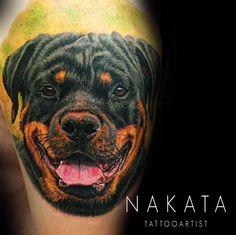 Dog tattoo by Nakata! Limited availability at Revival Tattoo Studio.