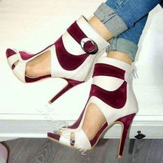 Sandali dell'involucro della caviglia Shoespie Patchwork