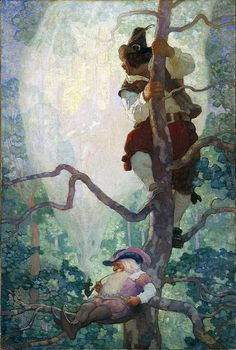 "N.C. Wyeth: ""Visions of New York""  1926 Oil painting illustration. 48 x 32 inches."