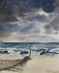 Beached plesiosaur by Doug Henderson