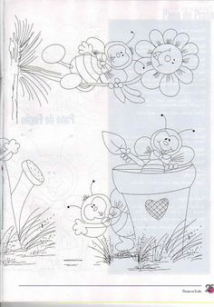 Bible Coloring Pages, Cute Coloring Pages, Tole Painting, Fabric Painting, Cool Easy Drawings, Kids Room Murals, Summer Painting, Quilling Patterns, Painted Books