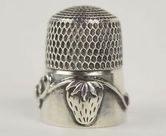 Antique Sterling Silver Simons Brothers Strawberry Vine Thimble | eBay
