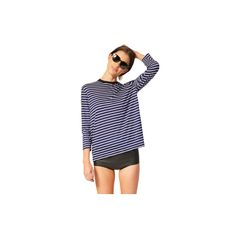 """Striped+Tee+-+""""I+can't+leave+home+without+this+tee.+It's+uber-soft+and+goes+with+just+about+everything."""""""
