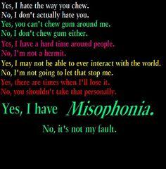 #misophonia