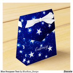 Blue Stargazer Tent Favor Box Christmas Favors, Christmas Card Holders, Holiday Cards, Christmas Cards, Stargazer, Vinyl Lettering, Favor Boxes, Party Printables, Colorful Backgrounds
