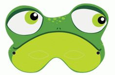 frog mask - free printable from www. Crafts For Boys, Art For Kids, Printable Masks, Free Printable, Frog Mask, Frog Costume, Frog Crafts, Storybook Characters, Kermit The Frog
