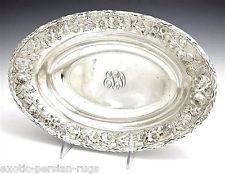 BEAUTIFUL KIRK AND SON STERLING SILVER BOWL OR DEEP PLATE REPOUSSE FLOWER #SterlingSilverBowl