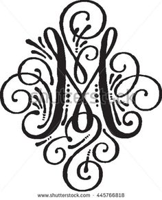 Fancy M Stock Vectors, Images & Vector Art Cricut Monogram, Monogram Fonts, Monogram Letters, Monograms, Fancy Letter M, Calligraphy M, Fancy M, Flower Art Drawing, Sigil Magic