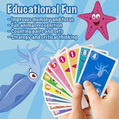 Teaching Numbers 0-12 Go Fish Match and Count Game Challenge Flash Cards