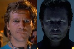 Kevin Flynn comparison from TRON with CLU in TRON: Legacy. They got the animation spot on.